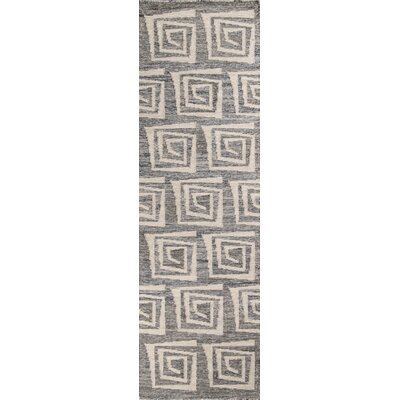 Zara Hand-Woven�Gray Area Rug Rug Size: Runner 23 x 8