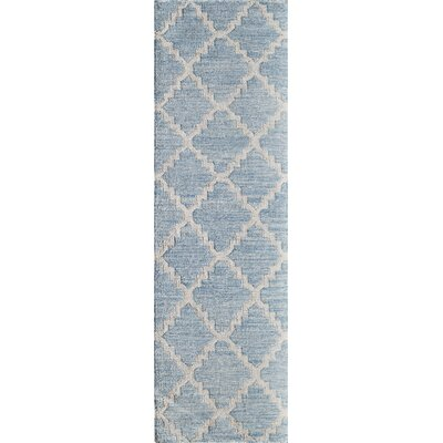 Zara Hand-Woven Blue Area Rug Rug Size: Rectangle 5 x 76