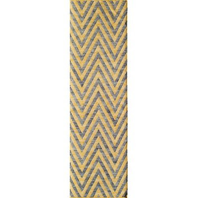 Zara Hand-Woven Yellow Area Rug Rug Size: Runner 2'3