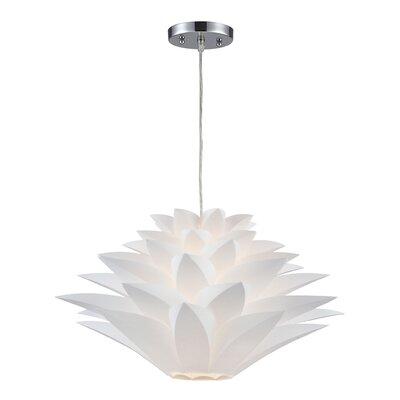 Hendren 1-Light Mini Pendant Size: 11 H x 20 W x 20 D