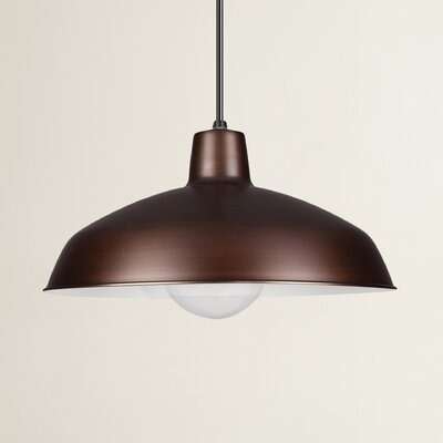 Henn 1-Light Bowl Pendant Finish: Antique Brushed Copper