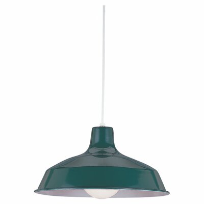 Henn 1-Light Bowl Pendant Finish: Emerald