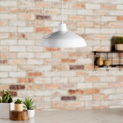 Henn 1-Light Bowl Pendant Finish: White