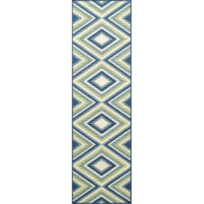 Wexler Blue/Green Indoor/Outdoor Area Rug Rug Size: Runner 23 x 76