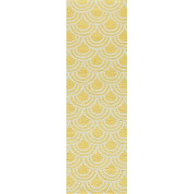 Trent Hand-Hooked Yellow Area Rug Rug Size: Rectangle 2 x 3
