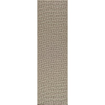Wexler Hand-Woven Taupe Area Rug Rug Size: 86 x 13