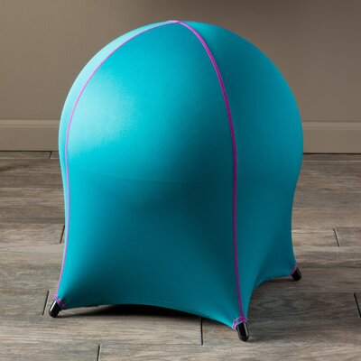 Myrrine Ball Stool Color: Sky Blue