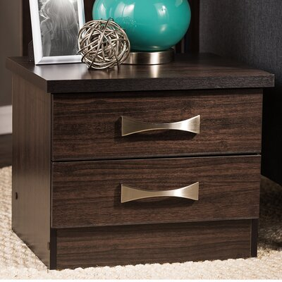 Mysliwiec 2 Drawer Nightstand