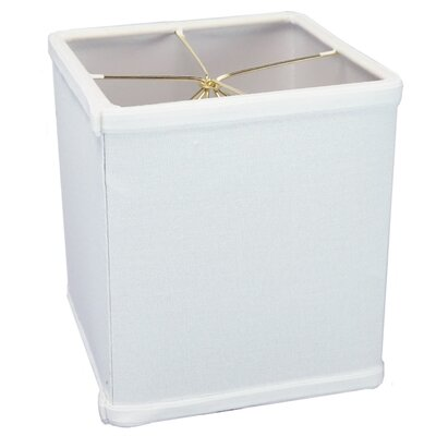 6 Linen Rectangular Lamp Shade Color: White