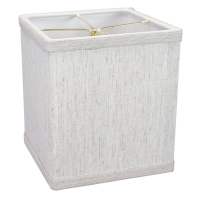 6 Linen Rectangular Lamp Shade Color: Oatmeal