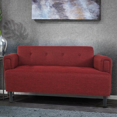 Naber Loveseat Upholstery: Dark Red
