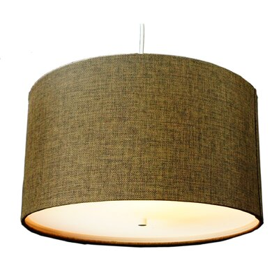 Nabors 2-Light Drum Pendant Shade Color: Chocolate Burlap