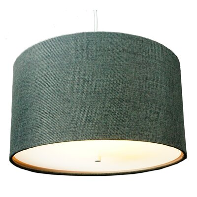 Nabors 2-Light Drum Pendant Shade Color: Granite Grey Burlap