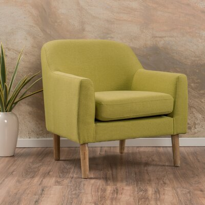 Nadel Arm Chair Upholstery: Green Yellow