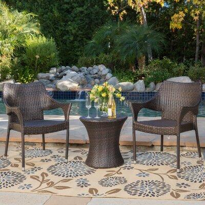 Dewart 3 Piece Outdoor Chair Chat Set