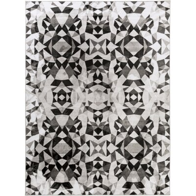 Artesian Charcoal/Light Gray Area Rug Rug Size: Rectangle 78 x 106
