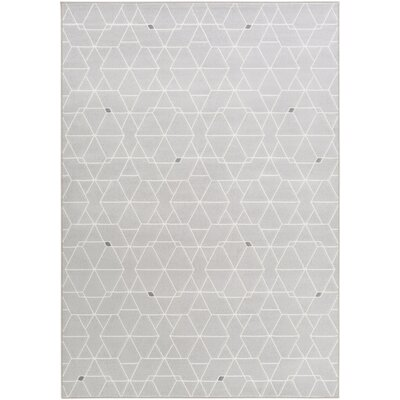 Mcdowell Gray/Neutral Area Rug Rug Size: 53 x 76