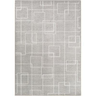 Mcdowell Gray Area Rug Rug Size: Rectangle 53 x 76