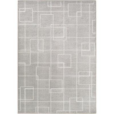 Mcdowell Gray Area Rug Rug Size: 53 x 76