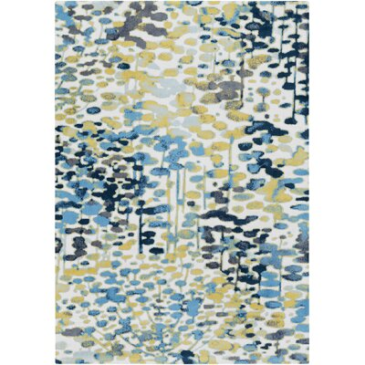Ladson Yellow/Blue Area Rug Rug Size: Rectangle 8 x 10