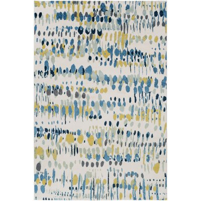 Ladson Yellow/Blue Area Rug Rug Size: Rectangle 53 x 76