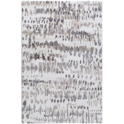 Ladson Cream/Gray Area Rug Rug Size: Rectangle 2 x 3