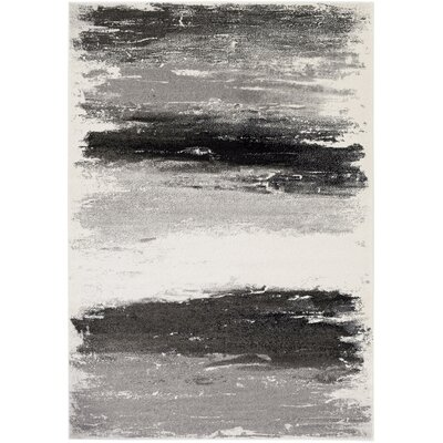Shuff Gray/Black Area Rug Rug Size: Rectangle 53 x 76