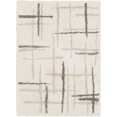 Hogue Cream Area Rug Rug Size: Rectangle 5 x 76
