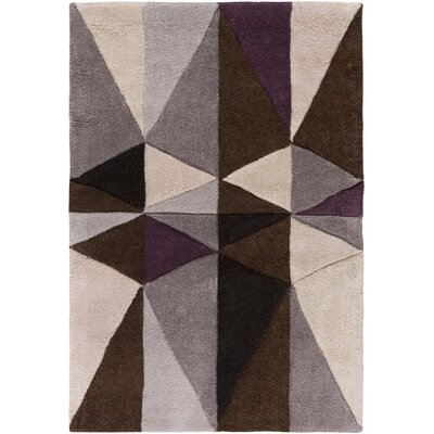 Conroy Dark Lavender Gray/Antique White Area Rug Rug Size: Round 8
