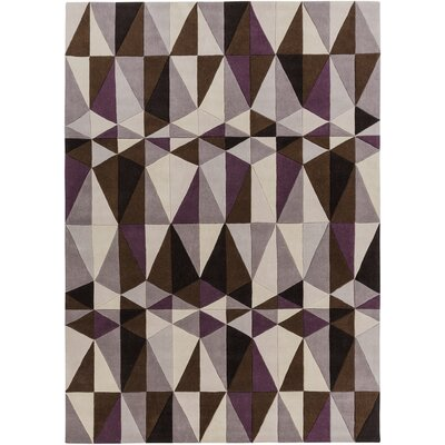Conroy Dark Lavender Gray/Antique White Area Rug Rug Size: 8 x 11