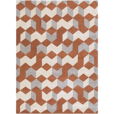 Conroy Hand-Tufted Orange/Yellow Area Rug Rug Size: 8 x 11