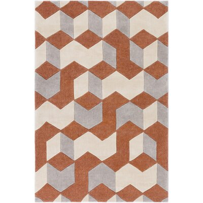 Conroy Hand-Tufted Orange/Yellow Area Rug Rug Size: Rectangle 5 x 8