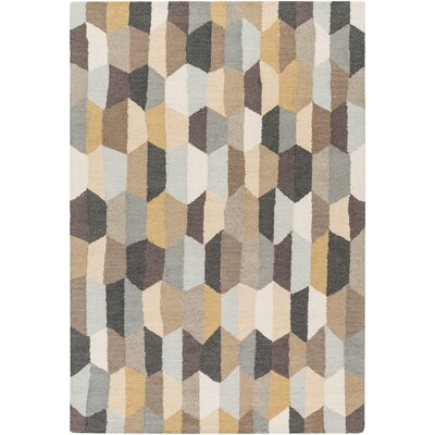 Senger Hand-Tufted Beige/Gray Area Rug Rug Size: Rectangle 5 x 76