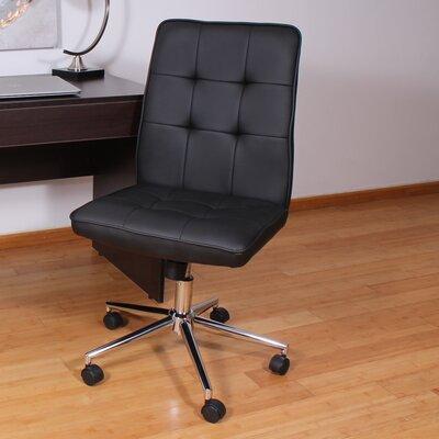 Mid-Back Desk Chair Upholstery: Black