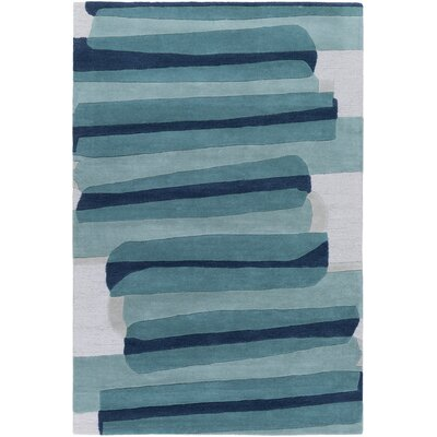 Nida Hand-Tufted Green Area Rug Rug Size: Rectangle 4 x 6