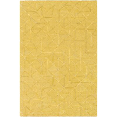 Blandon Hand-Tufted Yellow Area Rug Rug Size: 2 x 3