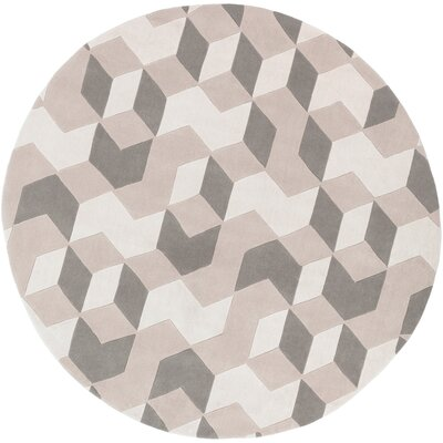 Conroy Hand-Tufted Neutral Area Rug Rug Size: Round 8