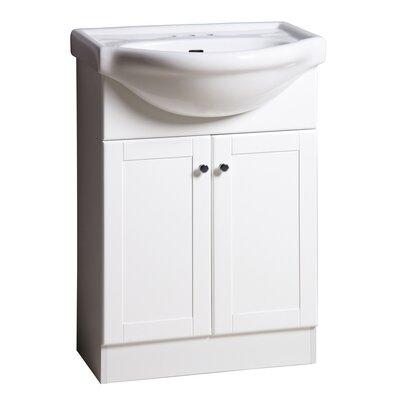 Shrader 24 Single Bathroom Vanity Set Base Finish: White