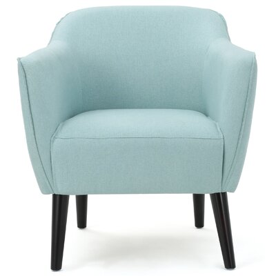 Aurianna Club Chair Upholstery: Light Blue