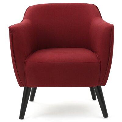Aurianna Club Chair Upholstery: Deep Red