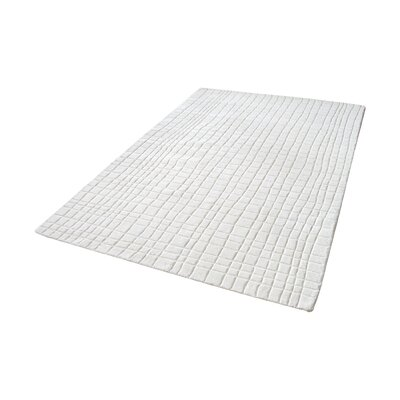 Beringer Hand-Woven Cream Area Rug Rug Size: 8 x 10
