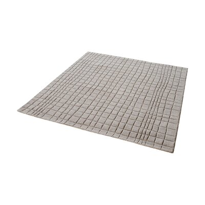 Beringer Hand-Woven Chelsea Gray Area Rug Rug Size: Square 6