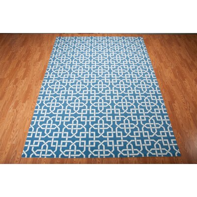 Sheedy Navy Indoor/Outdoor Area Rug Rug Size: 53 x 75
