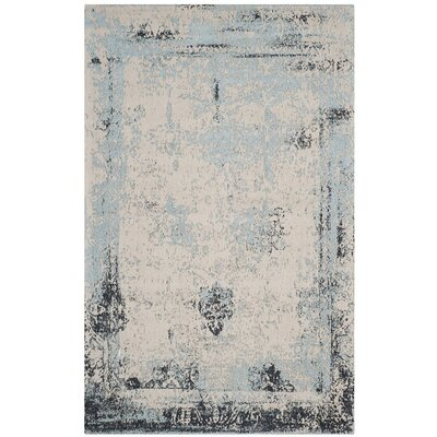 Sarvis Classic Vintage Blue Area Rug Rug Size: Rectangle 5 x 8