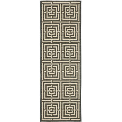 Hohman Abstract Indoor/Outdoor Area Rug Rug Size: Rectangle 27 x 5