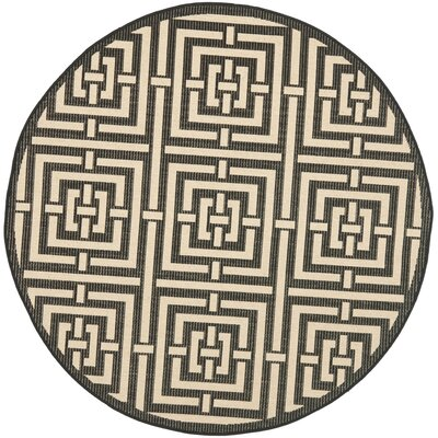 Hohman Abstract Indoor/Outdoor Area Rug Rug Size: Round 53