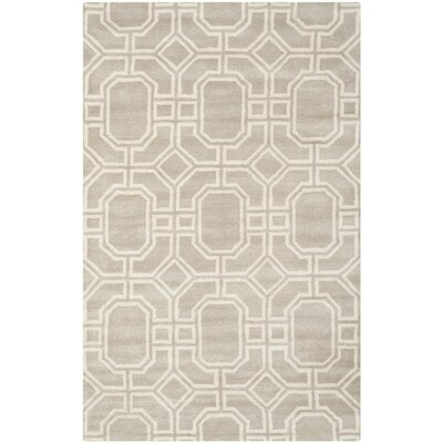 Schaub Hand-Tufted Gray/Ivory Area Rug Rug Size: Rectangle 36 x 56