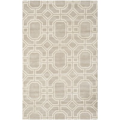 Schaub Hand-Tufted Gray/Ivory Area Rug Rug Size: Rectangle 5 x 8