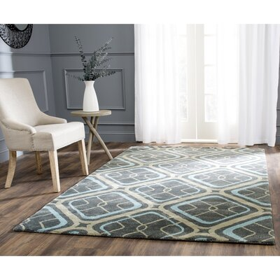 Schaub Hand-Tufted Gray/Beige Area Rug Rug Size: Rectangle 36 x 56