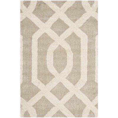 Schaub Grey/Ivory Area Rug Rug Size: 76 x 96